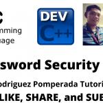 Password Security in C