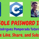 Console Password in C++