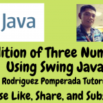 Addition of Three Numbers Using Swing in Java