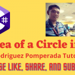 Area of a Circle in C#